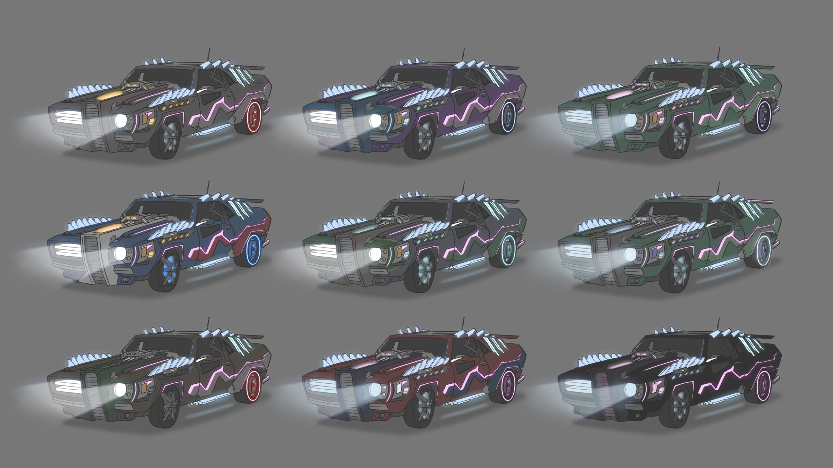 Neo-Racer: Vehicle Colour Iterations