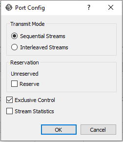 Port transmit mode