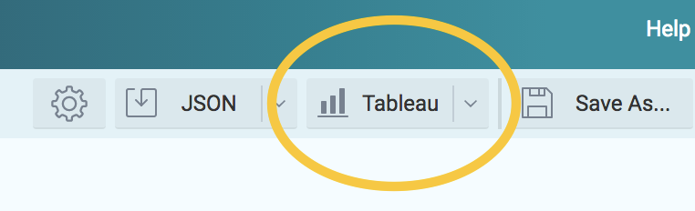 Tableau button