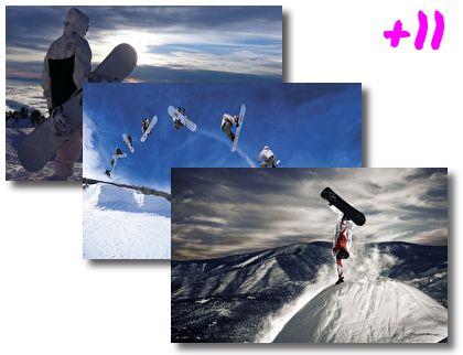 Snowboard theme pack