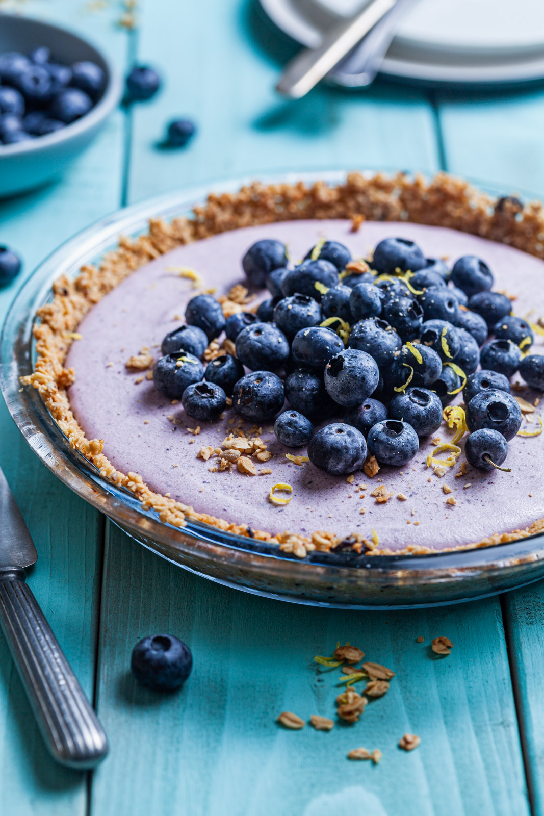 Lemon Blueberry Crunch Pie