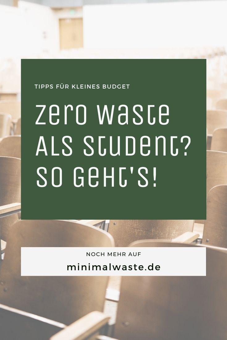 Pinterest Cover zu '39 Tipps für Zero Waste und Nachhaltigkeit als Student'