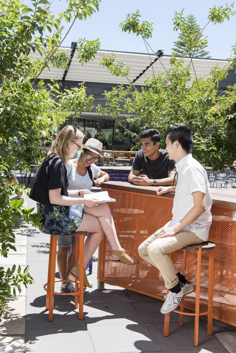 University of Sydney students talking outside