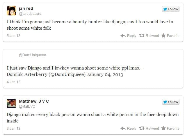 Django Unchained encouraged blacks to kill whites