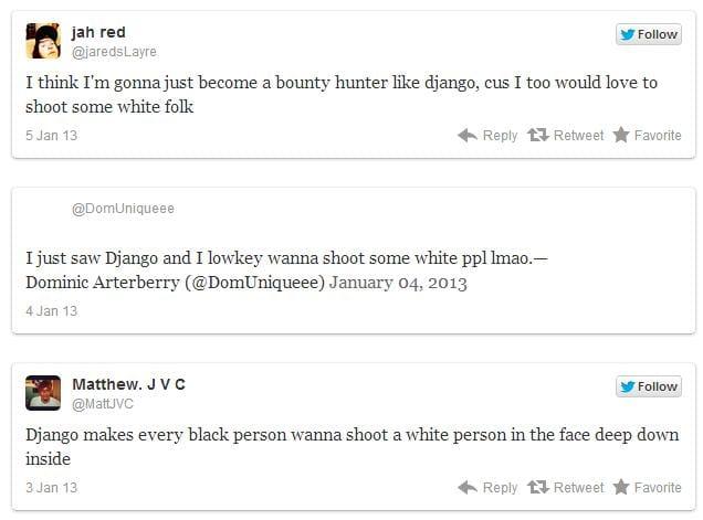 Django Unchained encouraged blacks to kill whites