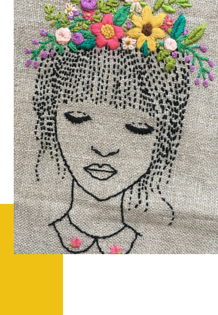 Broderie personnage
