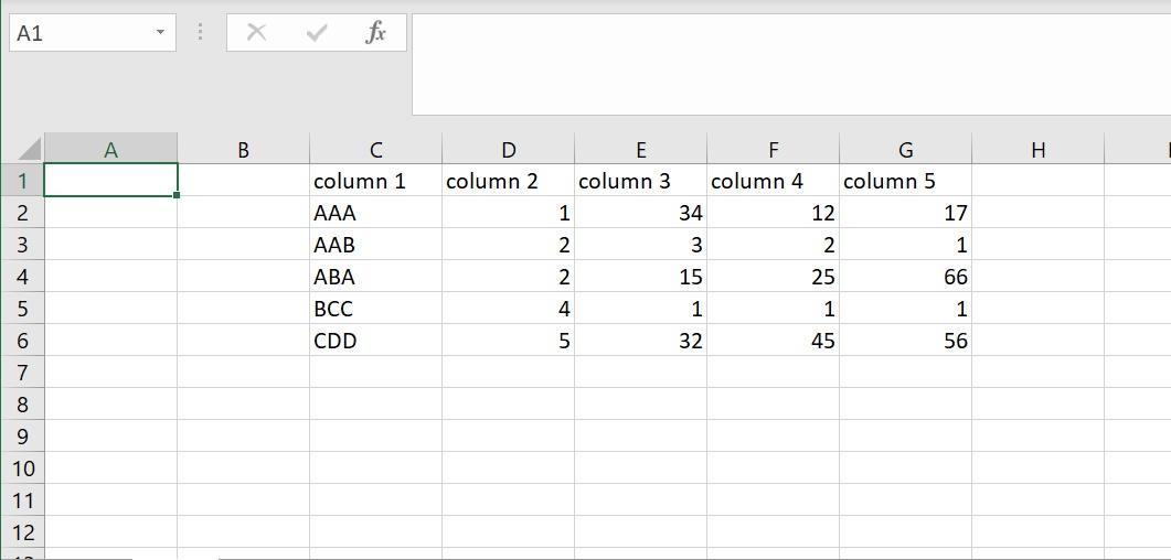 Beispiel-Excel