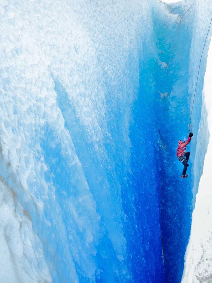 Ice climbing the Viedma Glacier