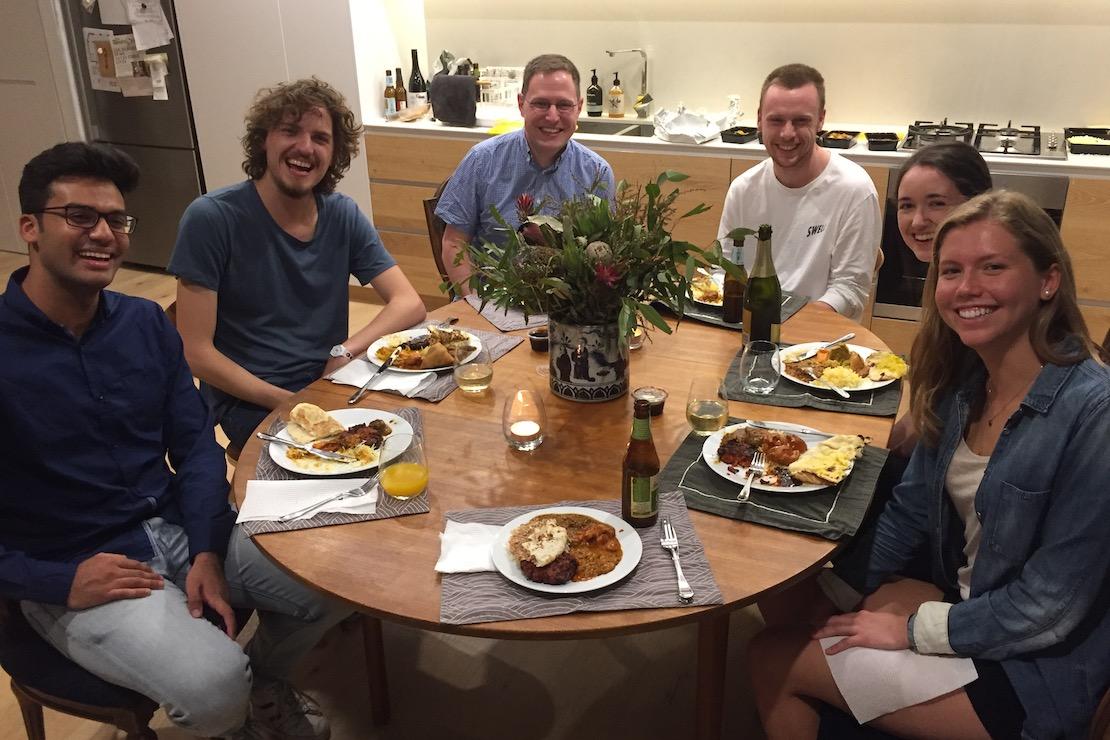 Group dinner (2019): Afnan, Stefano, Ivan, Daniel, Clare, Claire