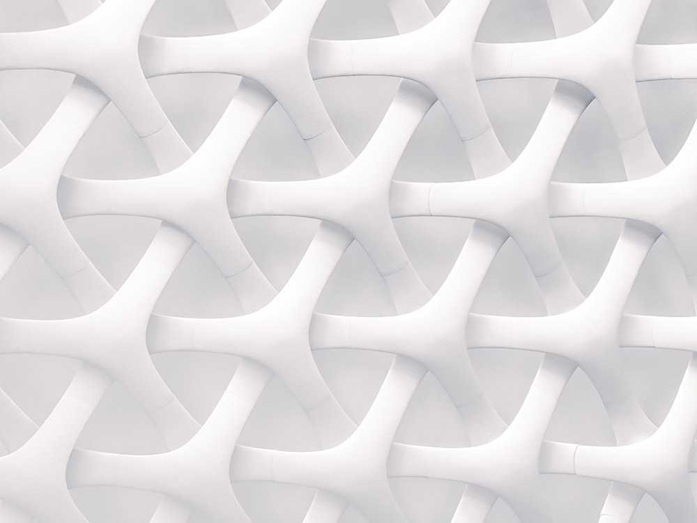 Image of a net showing interlaced mesh