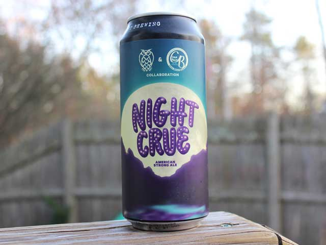 Night Crue, a Strong Ale brewed by Night Shift Brewing