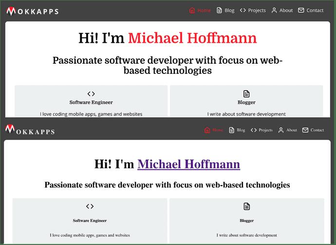 Typography comparison