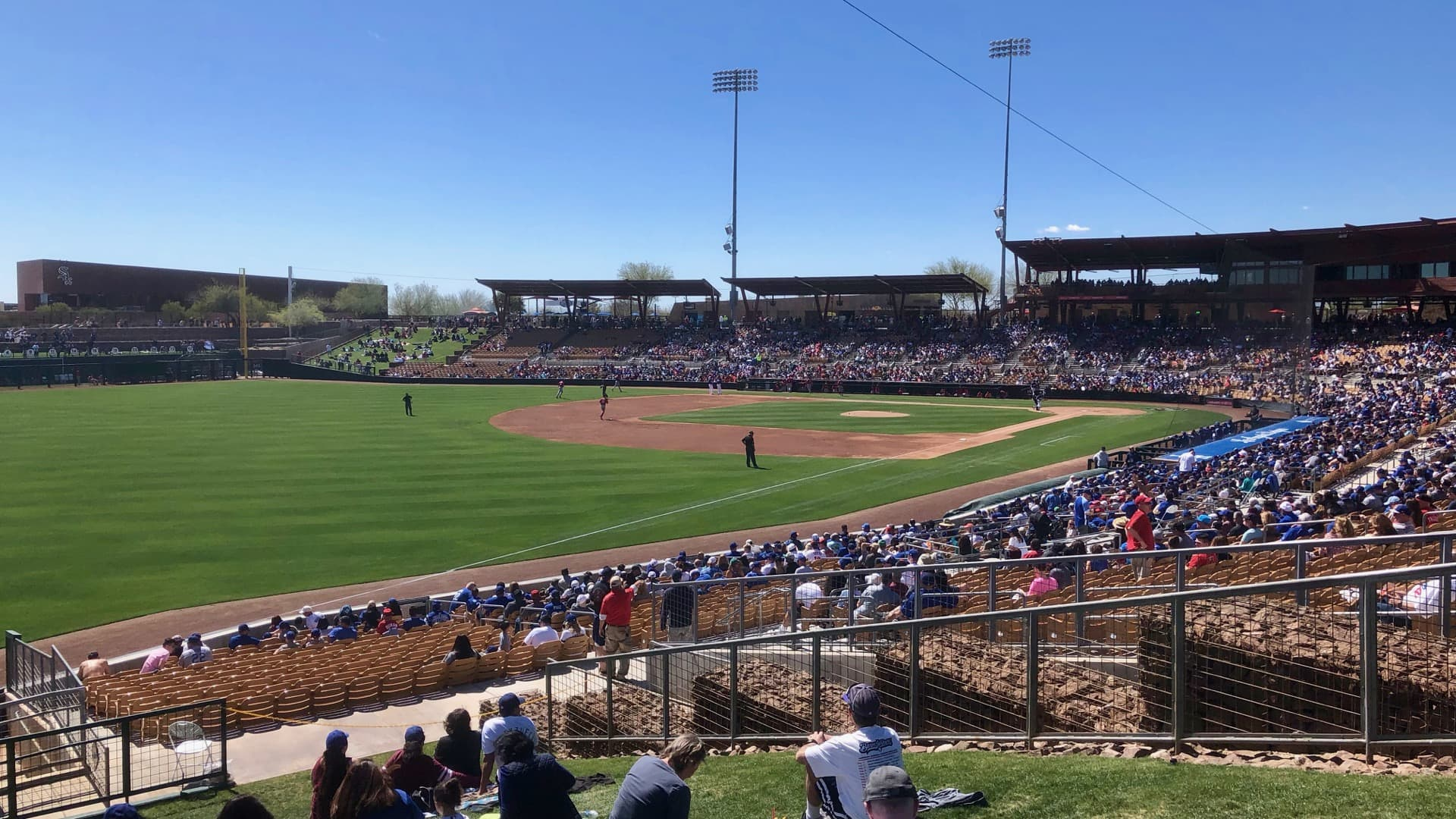 Game happening at Camelback Ranch in Glendale, AZ.