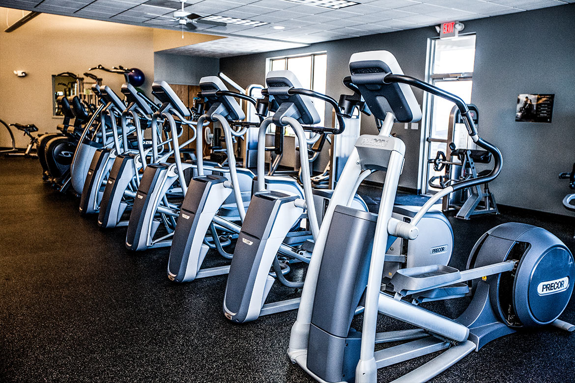 Elliptical cardio machines.