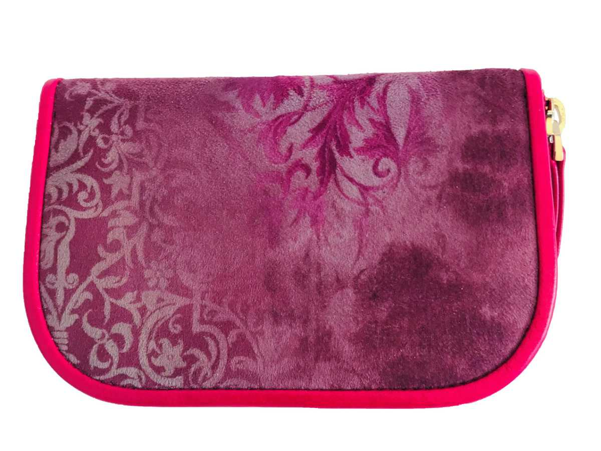 Dalim Mini Wallet Textile - violet ornament pattern