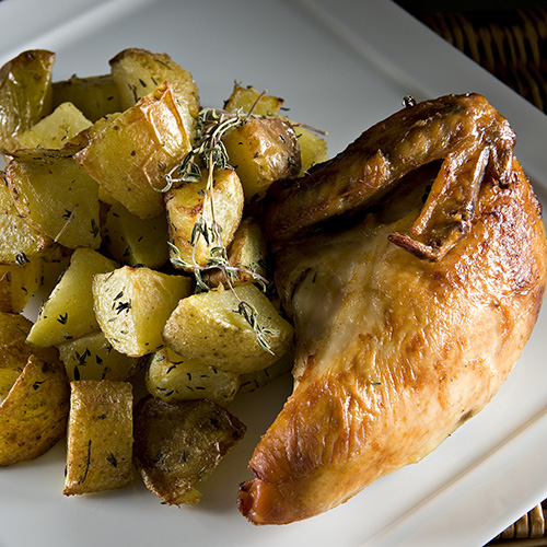 poulet pommes de terre