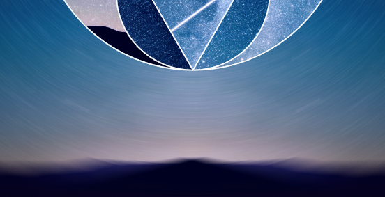 Background of the design is blurred with Radial Blur effect