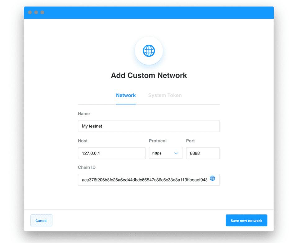 How to setup EOS testnet? - Adding custom network#max500#