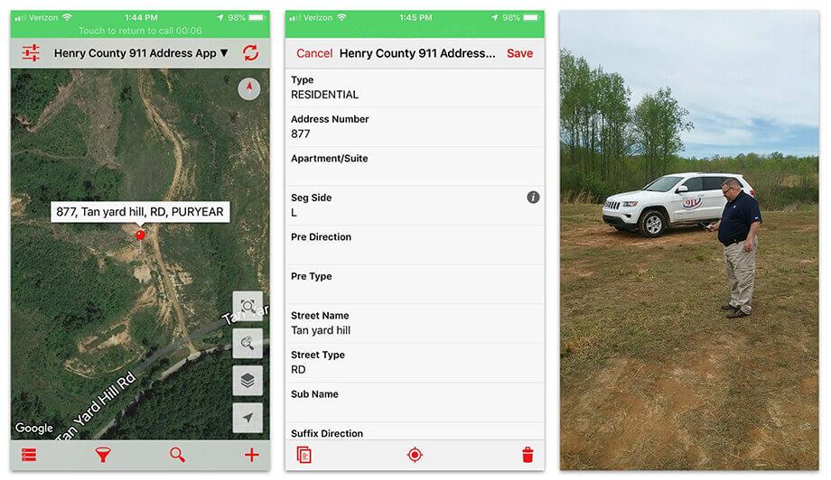 Address data collection app
