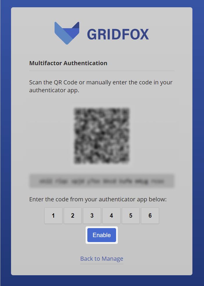 MFA QR Code