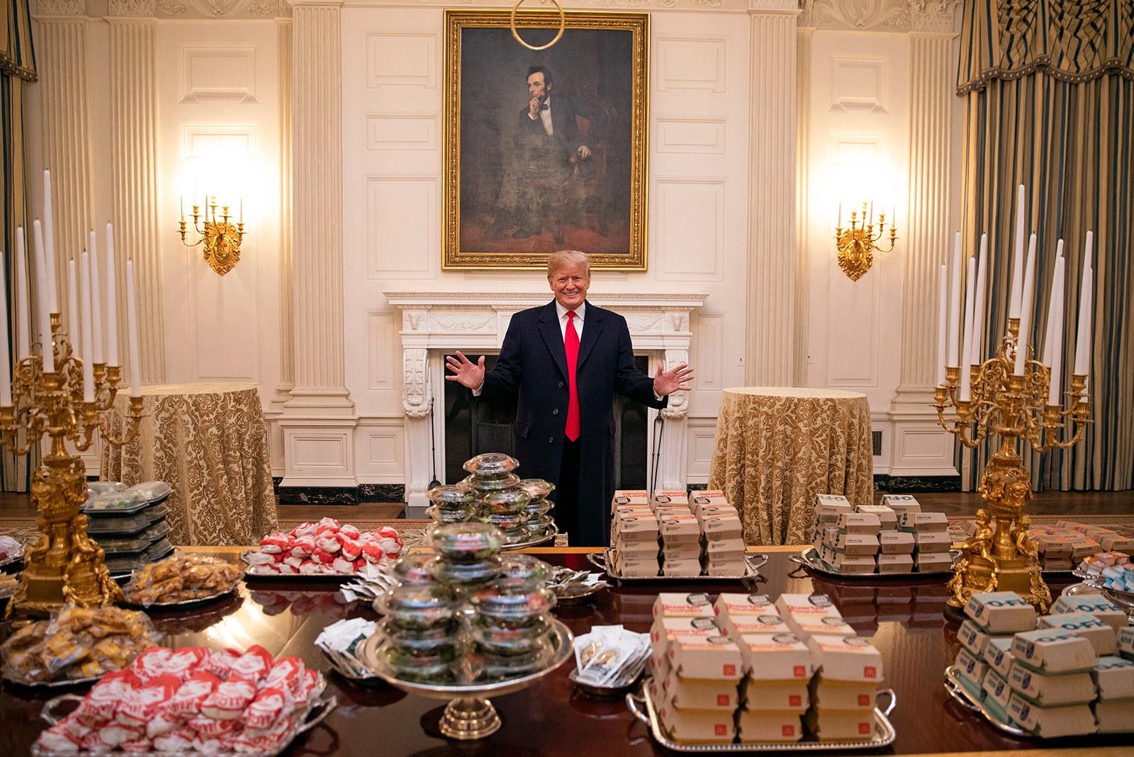 Vår president och hans hamburgare
