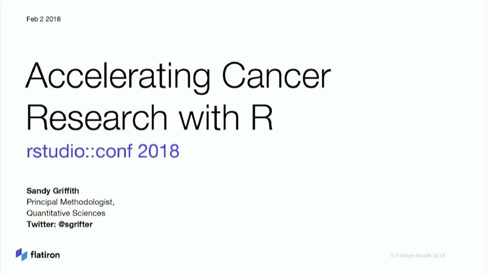 Accelerating cancer research with R