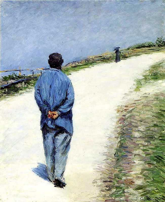 'Homme portant une blouse', by Gustave Caillebotte (1848–1894), date unkown, oil on canvas