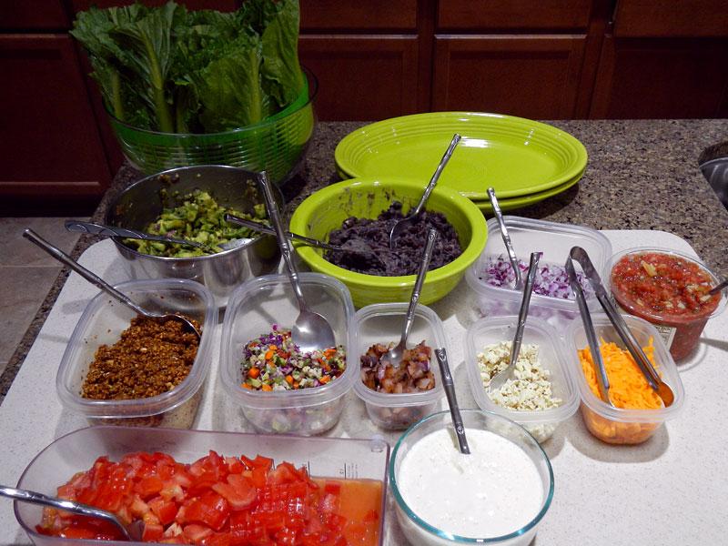 Vegan Burrito Setup