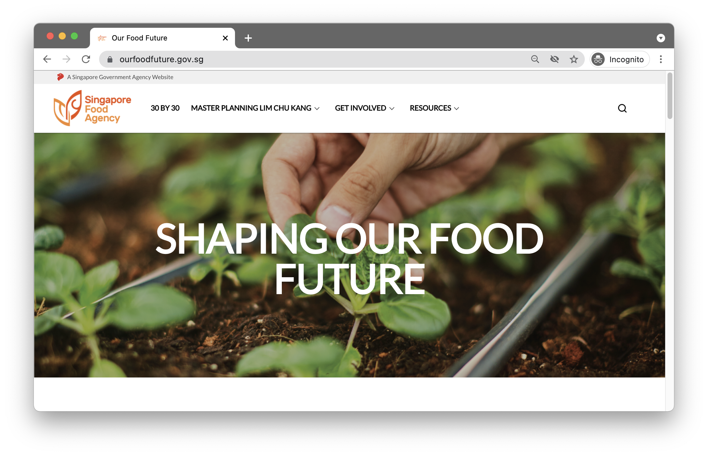 Our Food Future website