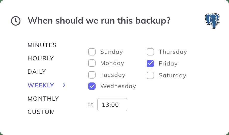 postgresql backup schedule