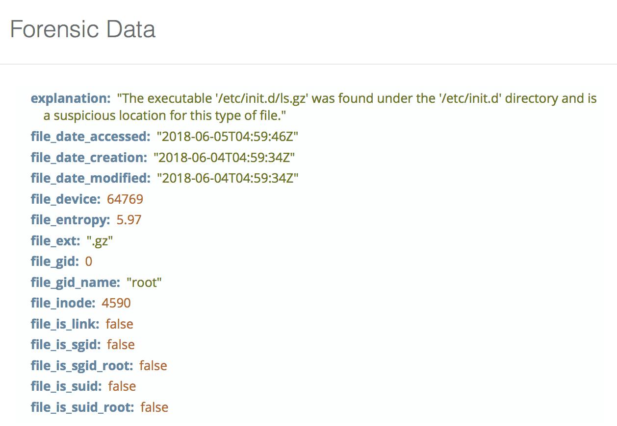 Executable binary in suspicious areas checks example