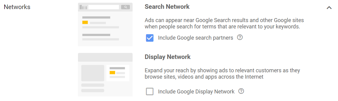 Search partners networks
