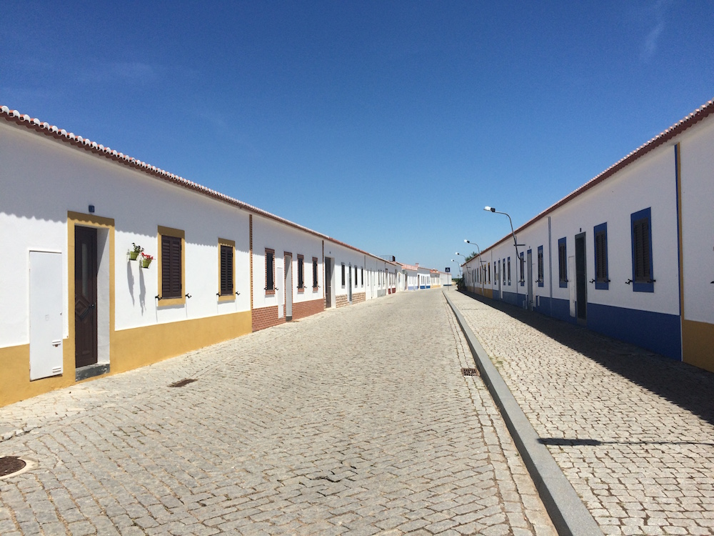 "A street in the ""new"" Aldeia da Luz."