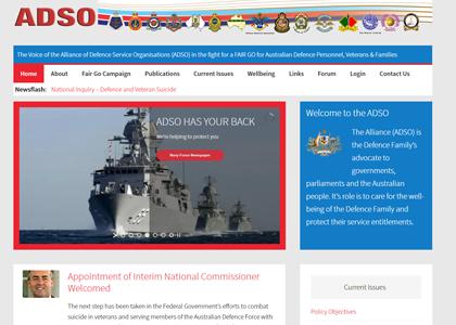 ADSO Website Screenshot