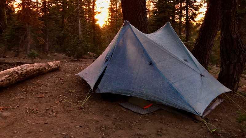 Gravity's last campsite on the PCT