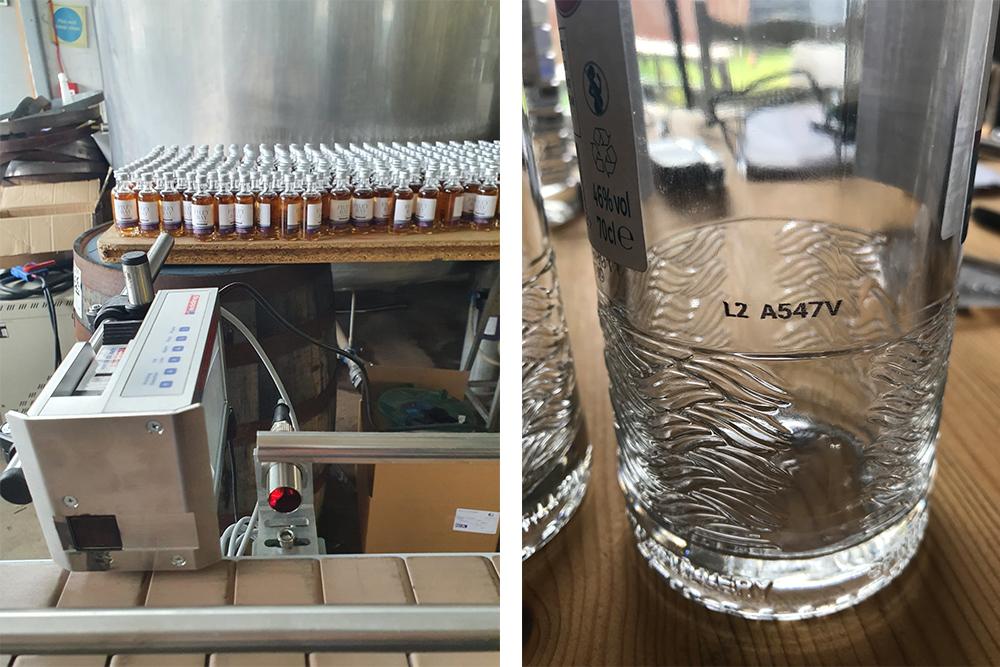 Print on distillery bottle