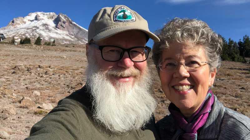 Gravity and Kim at Mt. Hood