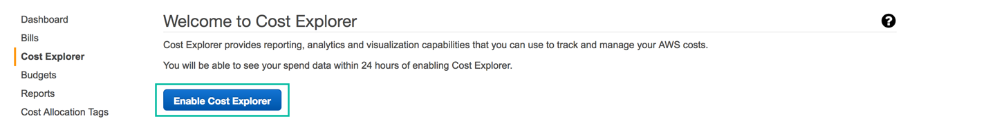 Enable Cost Explorer