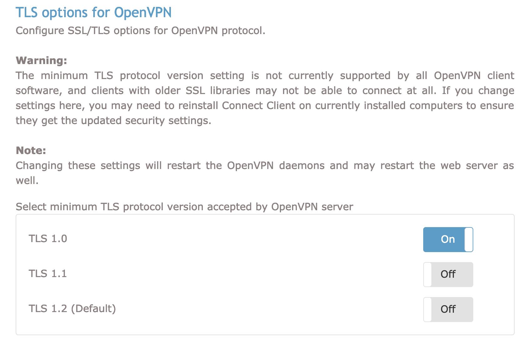 TLS Settings