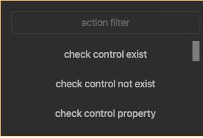 Add Action menu