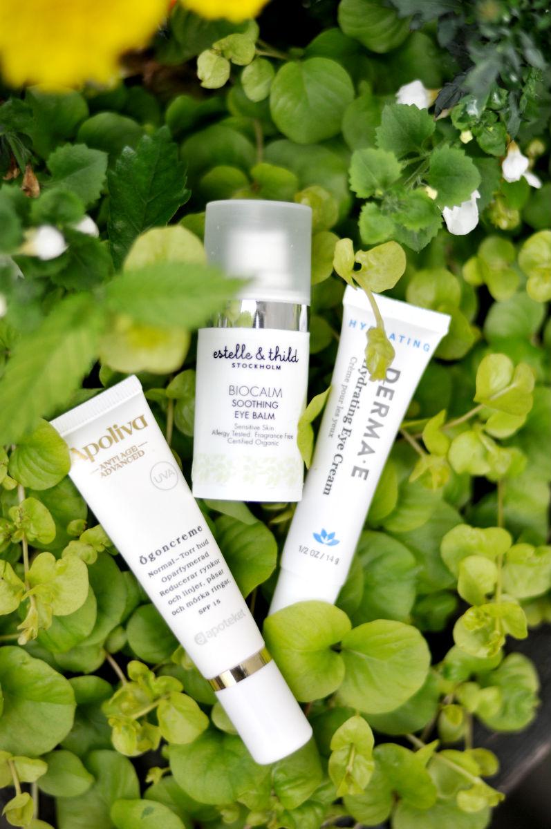 Estelle & Thild BioCalm Eye Cream, Apoliva Antiage Eye Cream, Derma E Hydrating Eye Cream