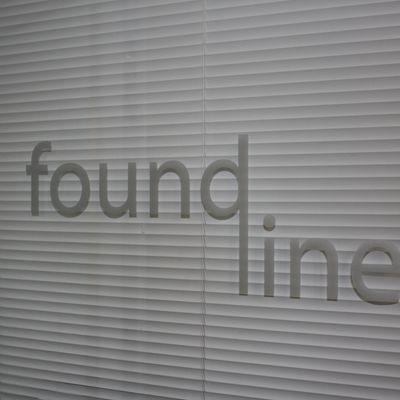 Found Line logo on studio door