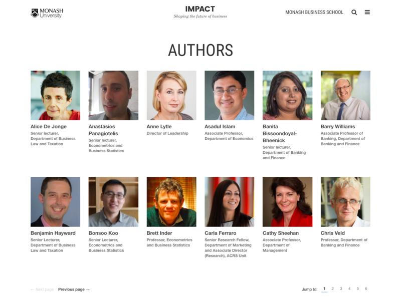 Author listing