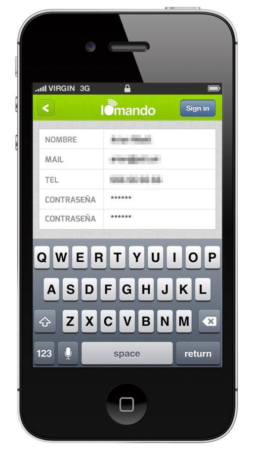 iomando app 2.0 — old login
