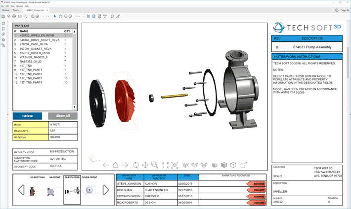 Tech Soft 3D   3D—Entwicklungs-Tools, die Applikationen in