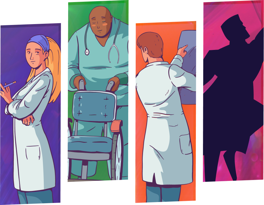 Medical heroes illustration - you can be a hero, too