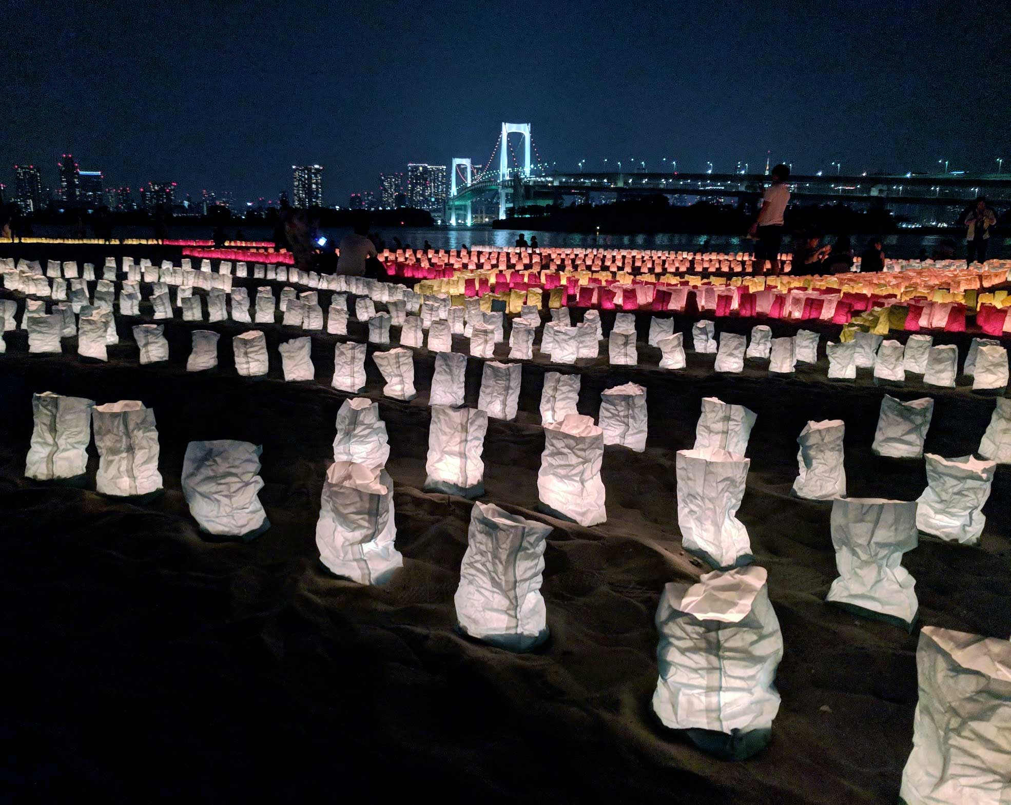 Lanters on Odaiba beach