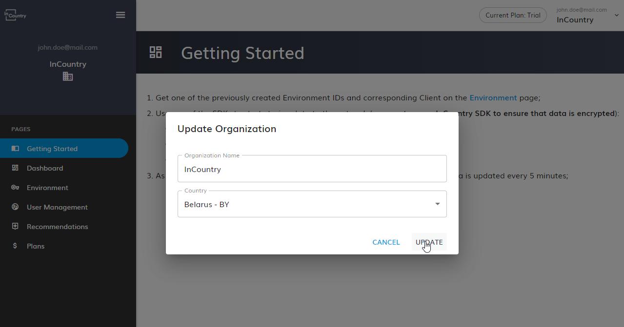 Update Organization