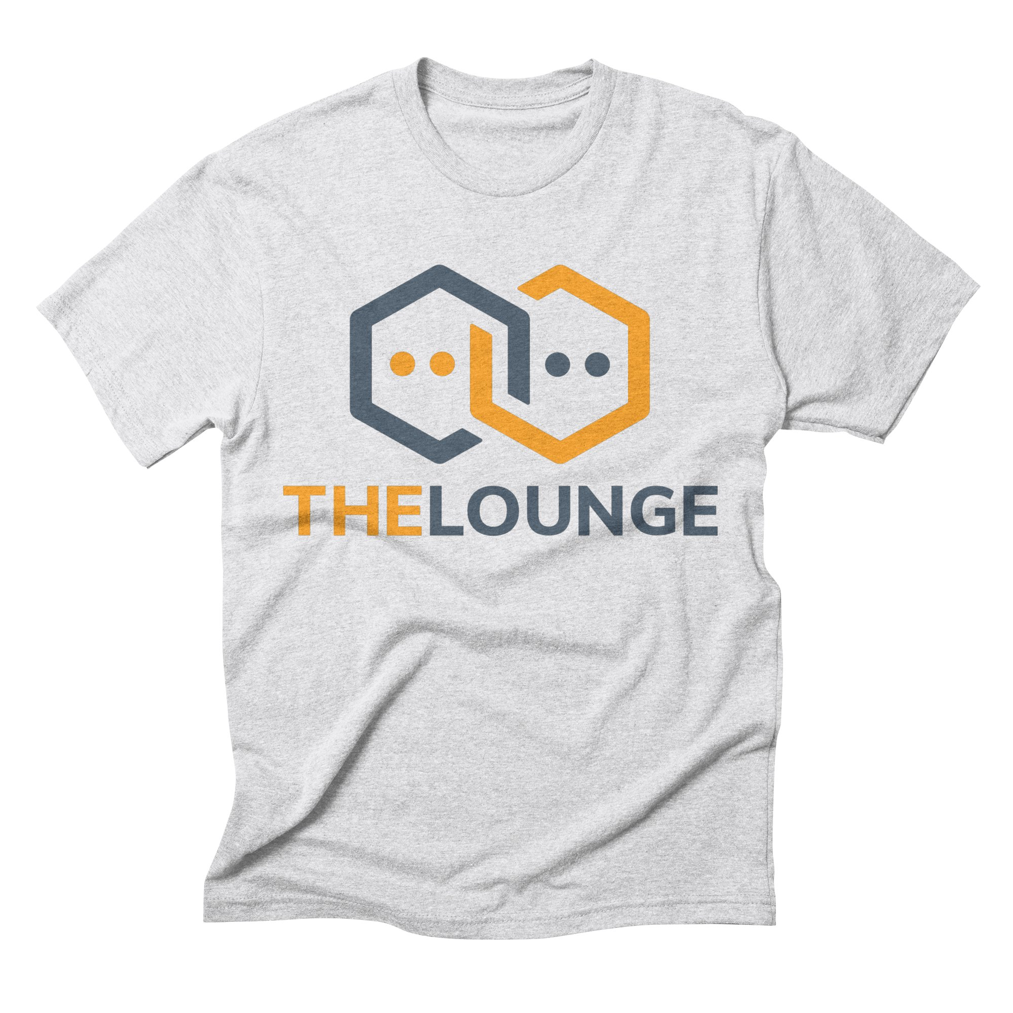 White t-shirt with The Lounge logo