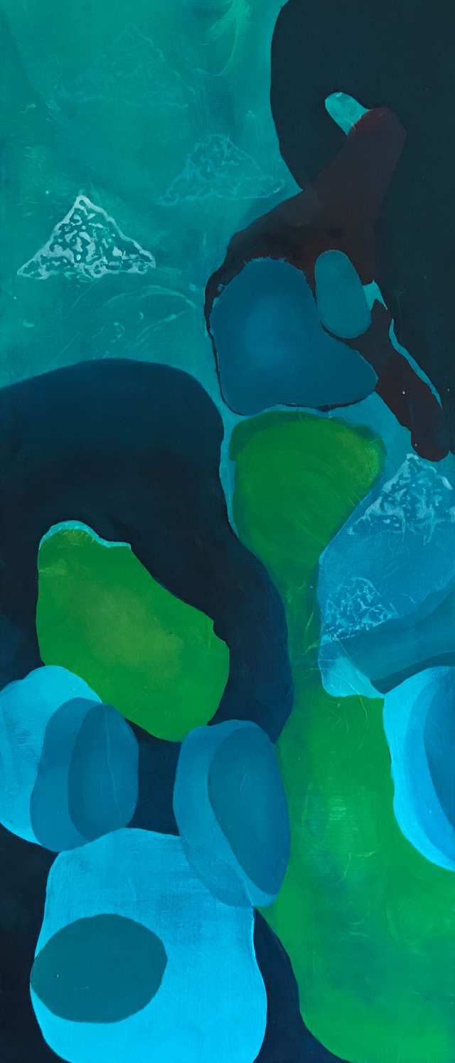 Abstract Scapes Shades of the Hilltops, acrylic on canvas